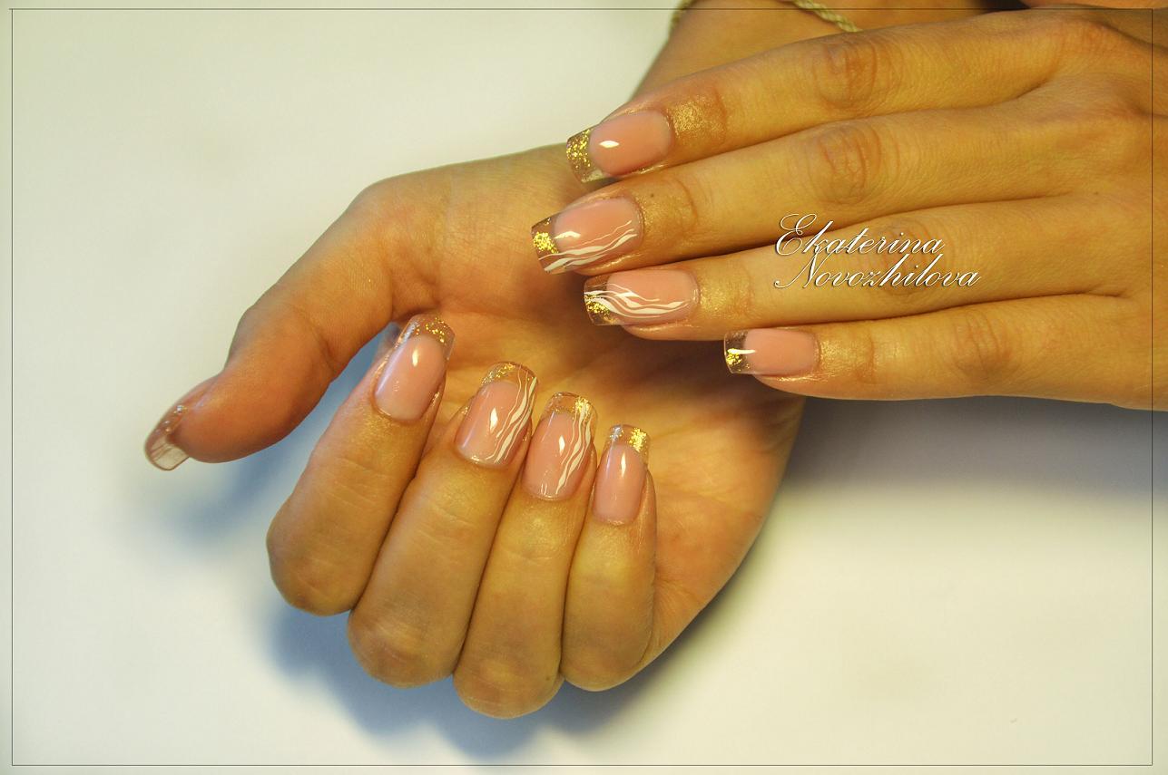 Декор ногтей френч фото